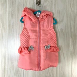 Little Lass Coral Quilted Puffer Vest Girls 5